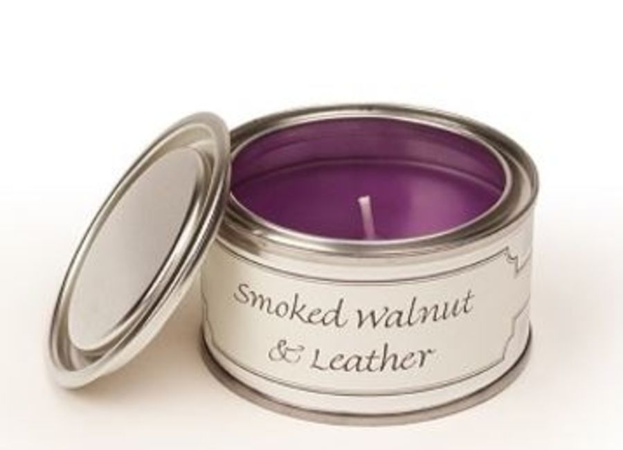 Smoked Walnut & Leather Pintail Candle