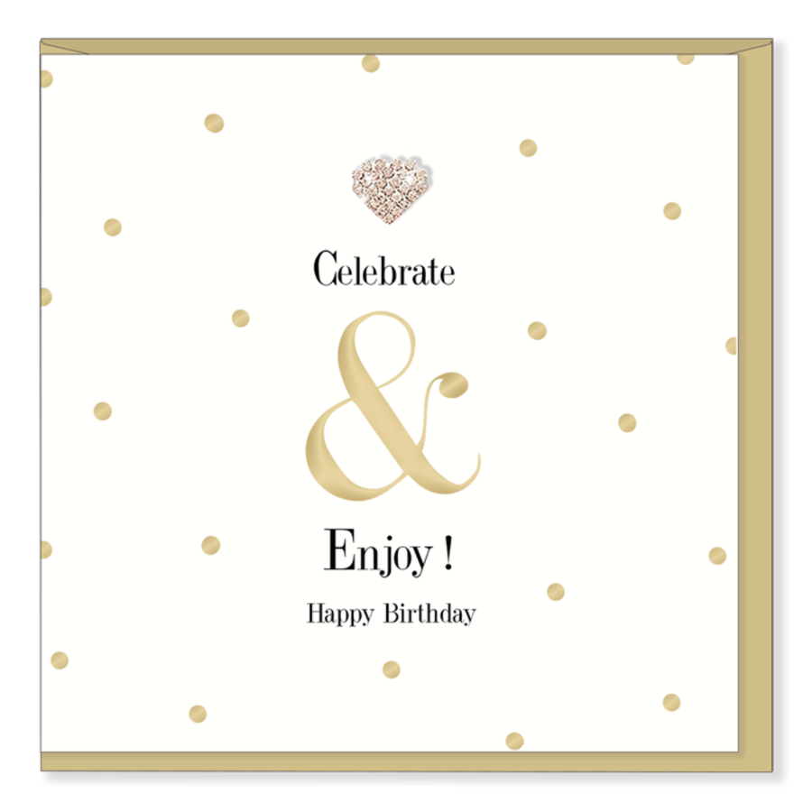 Celebrate & Enjoy - Mad Dots Birthday Card