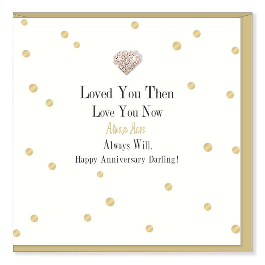 Loved You Then Love You Now - Anniversary Mad Dots Card