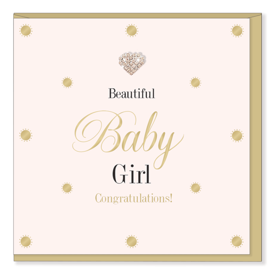 Beautiful Baby Girl - Mad Dots Card