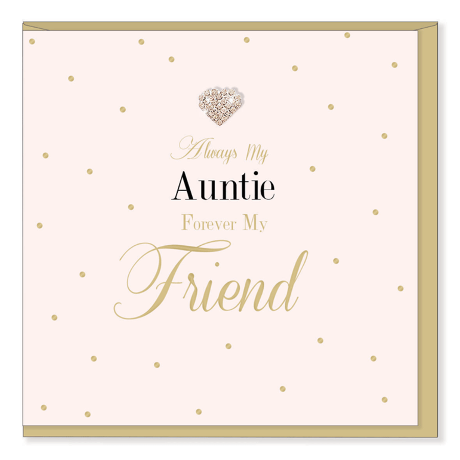 Always my Auntie Forever My friend - Mad Dots Card