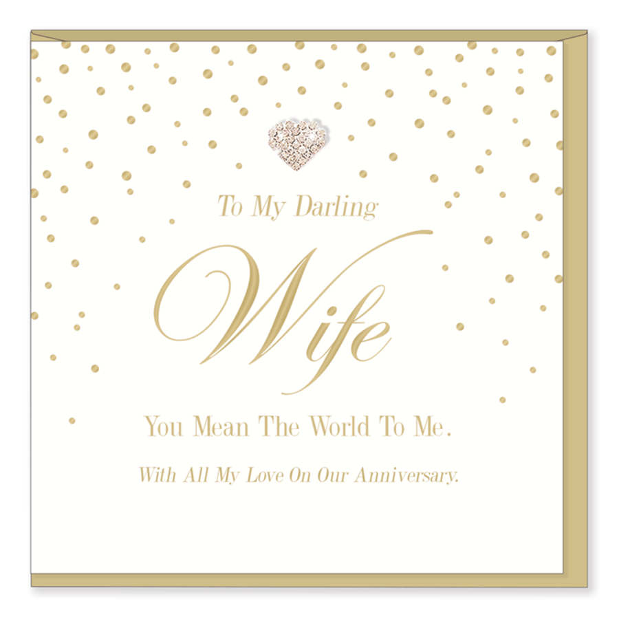 To My Darling Wife - Mad Dots Anniversary Card