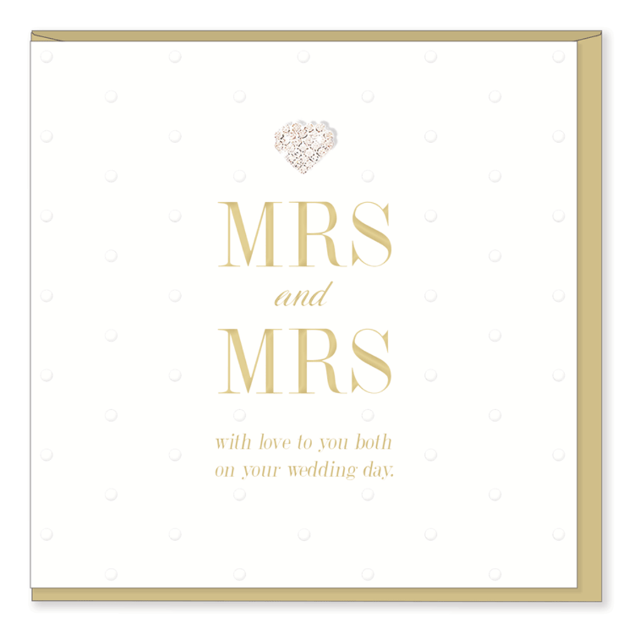 Mr & Mrs Wedding Card - Mad Dots Collection