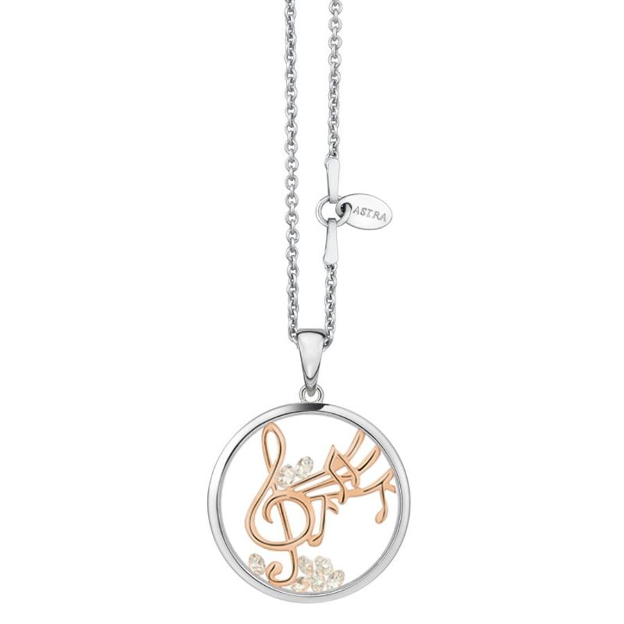 Happy Melody Silver Pendant & Chain by Astra Jewellery