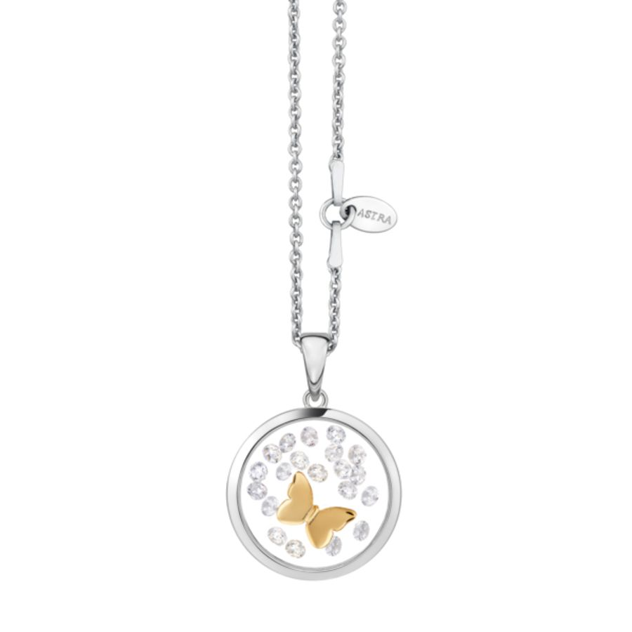 Butterfly Silver Pendant & Chain by Astra Jewellery