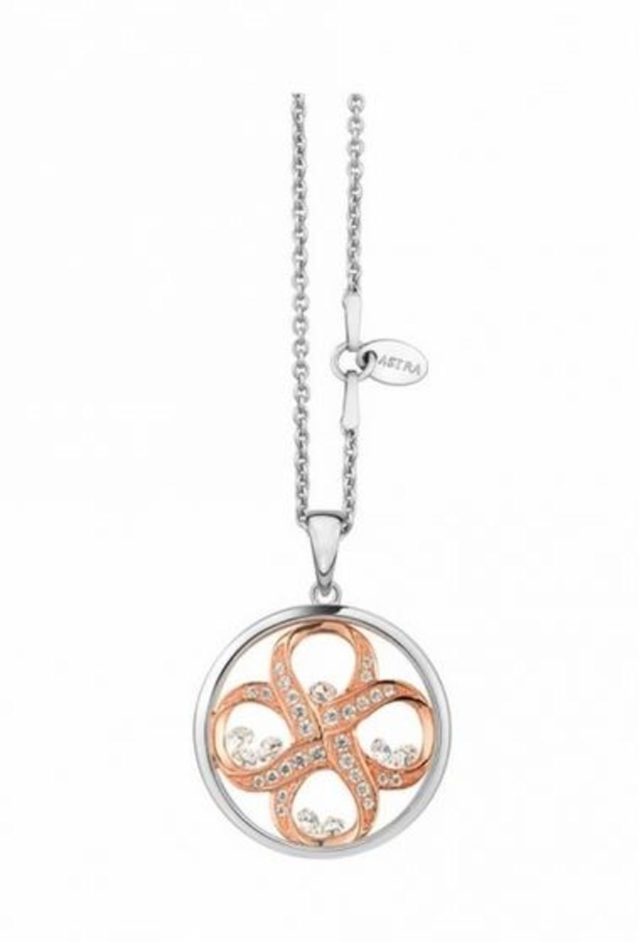 Eternal Peace Silver Pendant & Chain by Astra Jewellery