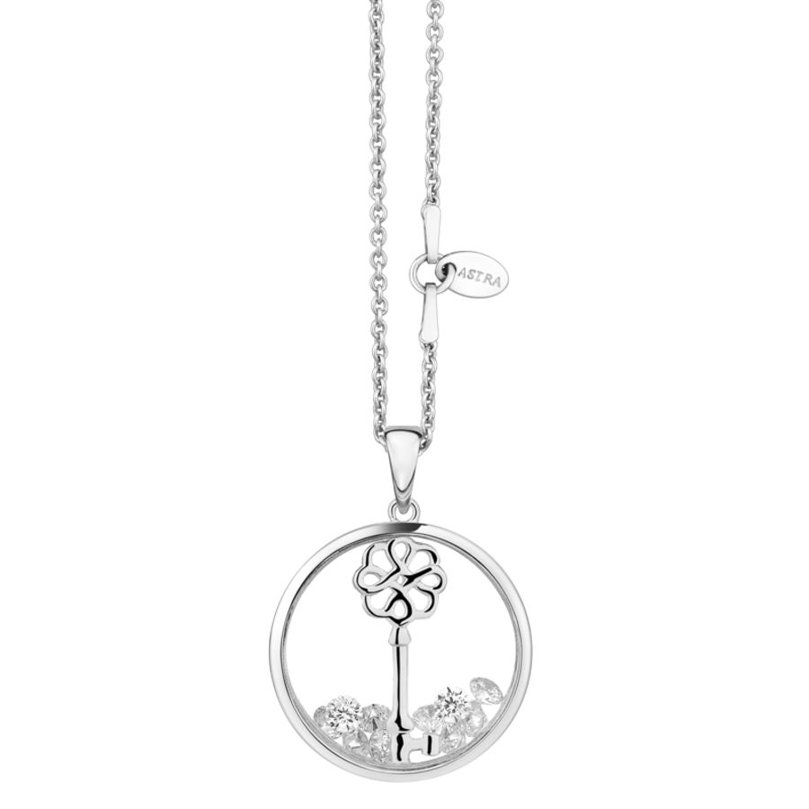 Lucky Key Silver Necklace by Astra Jewellery