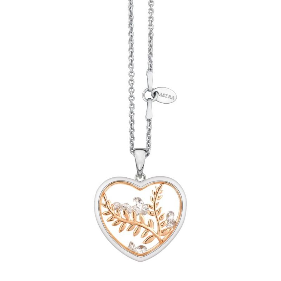 Peaceful Heart Silver Necklace by Astra Jewellery