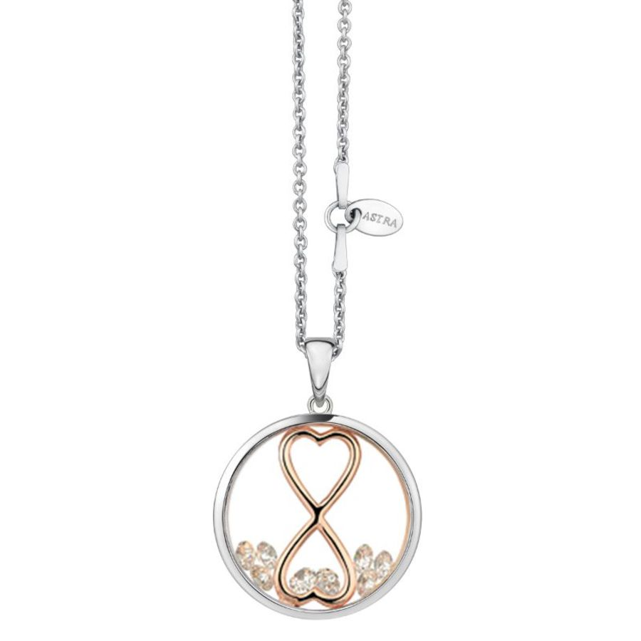 Infinity Heart Silver Necklace by Astra Jewellery