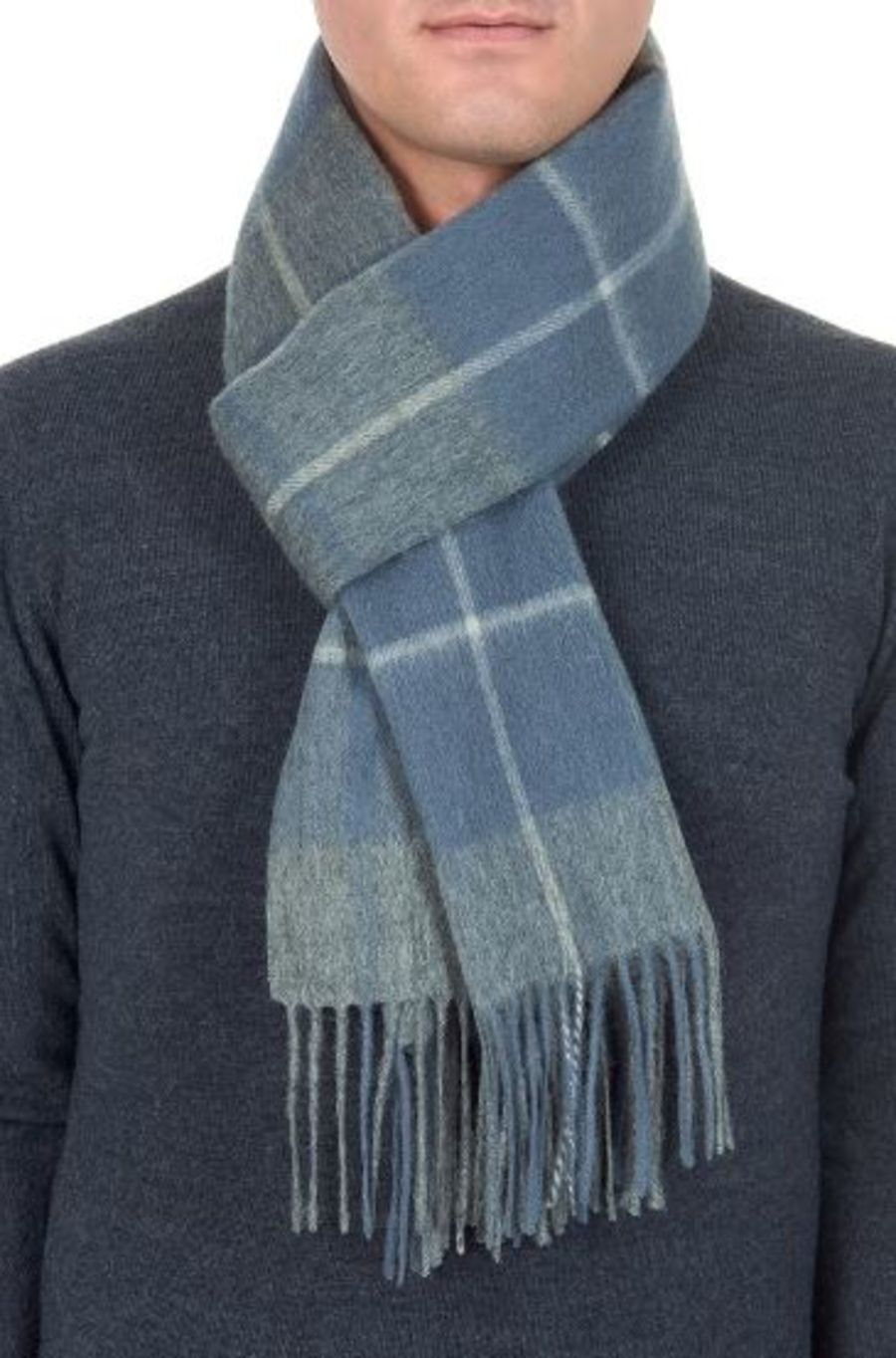 Classic Gents Style 100% Wool Scarf - PBY22W