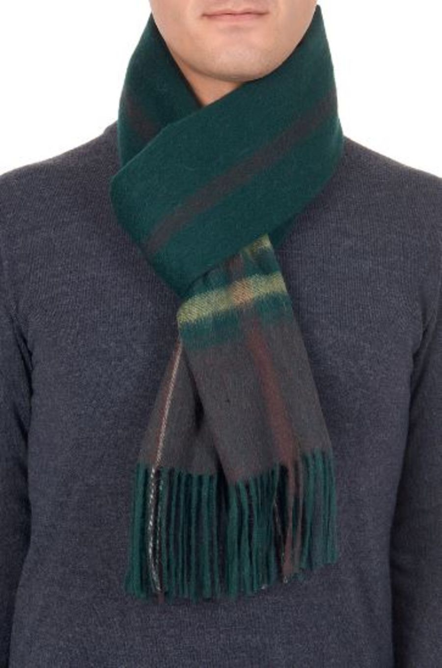 Classic Gents Style 100% Wool Scarf - PBY27W
