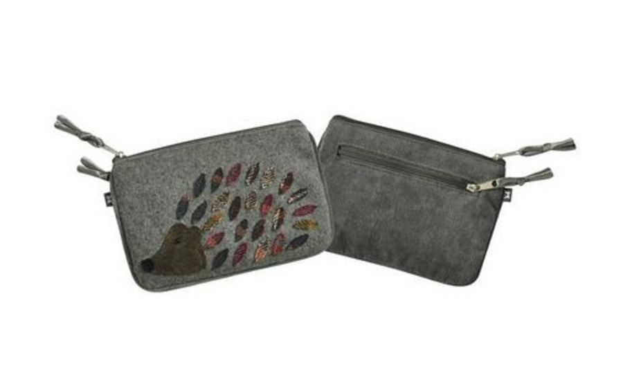 Animal APPLIQUE JULIET Purse - HEDGEHOG