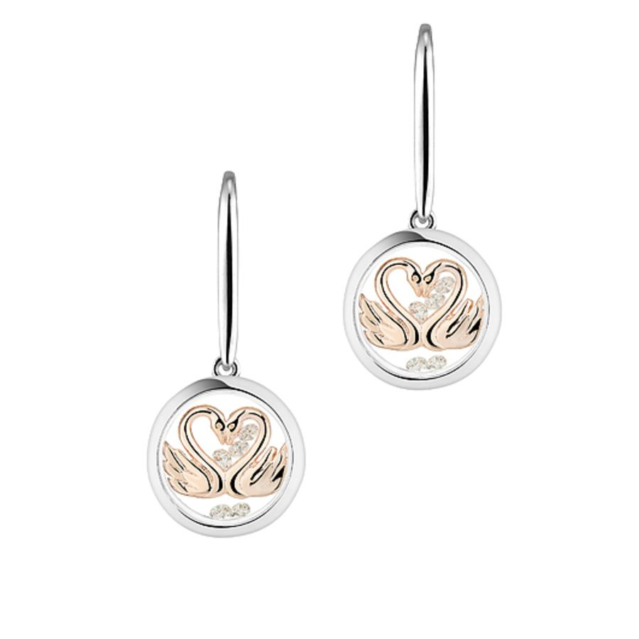 My Sweetheart Silver & Rose Gold Earrings by Astra Jewellery
