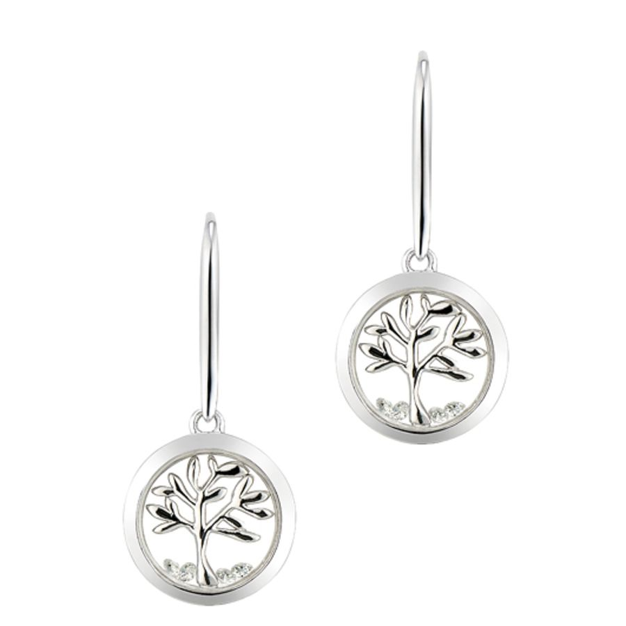 Tree of Life Silver Earrings by Astra Jewellery