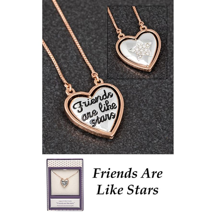 2 tone Heart Shaped Friends Necklace by Equilibrium