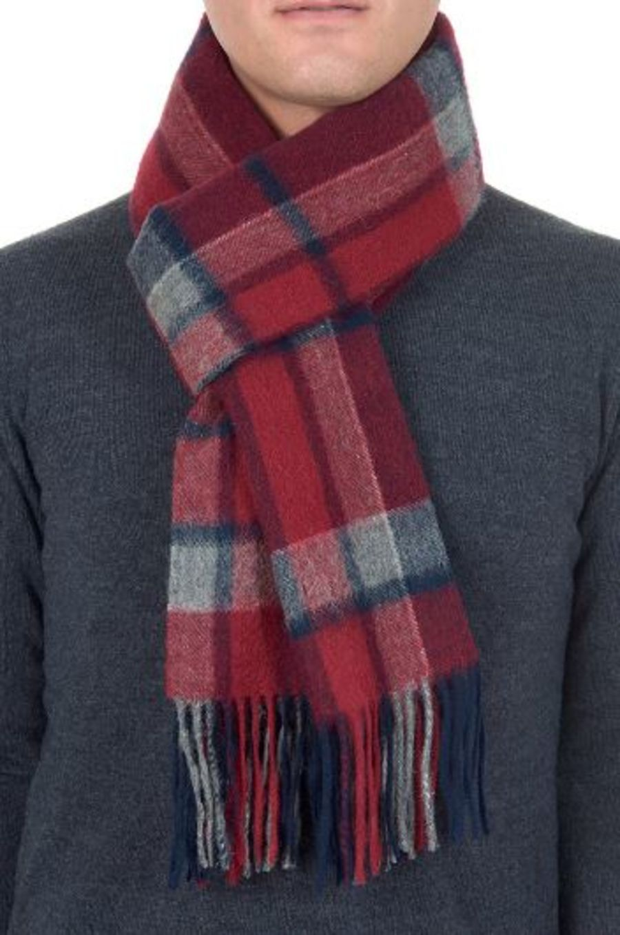 Classic Gents Style 100% Wool Scarf - PBY18W