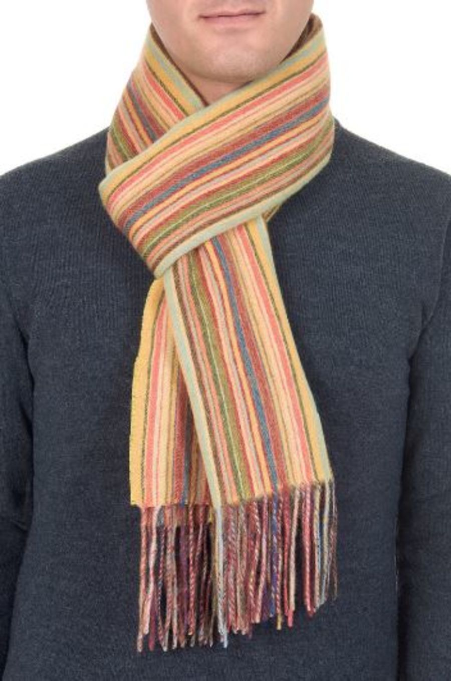 Classic Gents Style 100% Wool Scarf - PBY19W