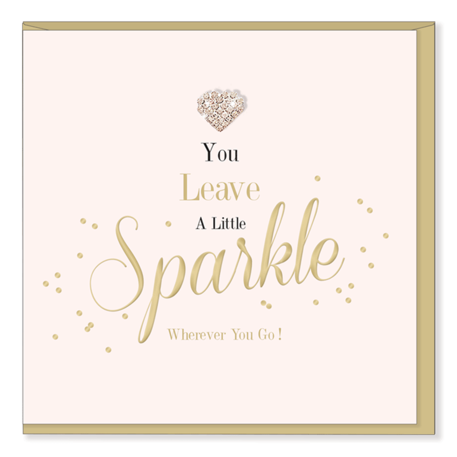 You Leave A Little Sparkle - Mad Dots Card