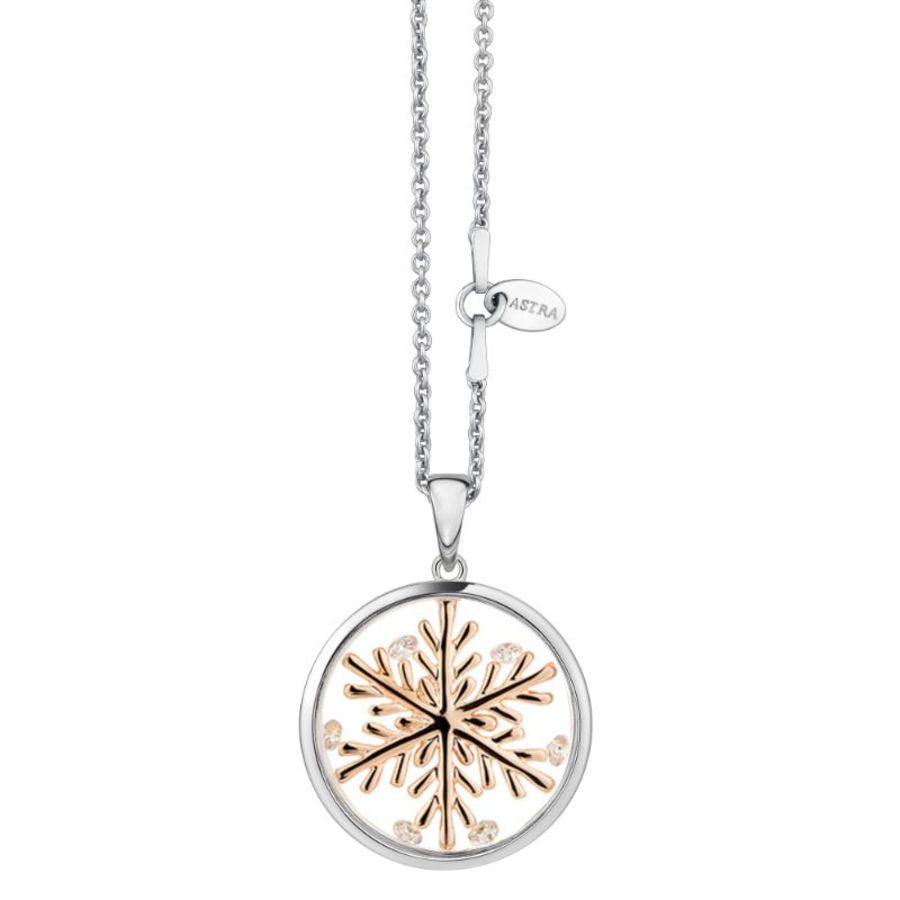 Lucky Snowflake Silver Necklace by Astra Jewellery