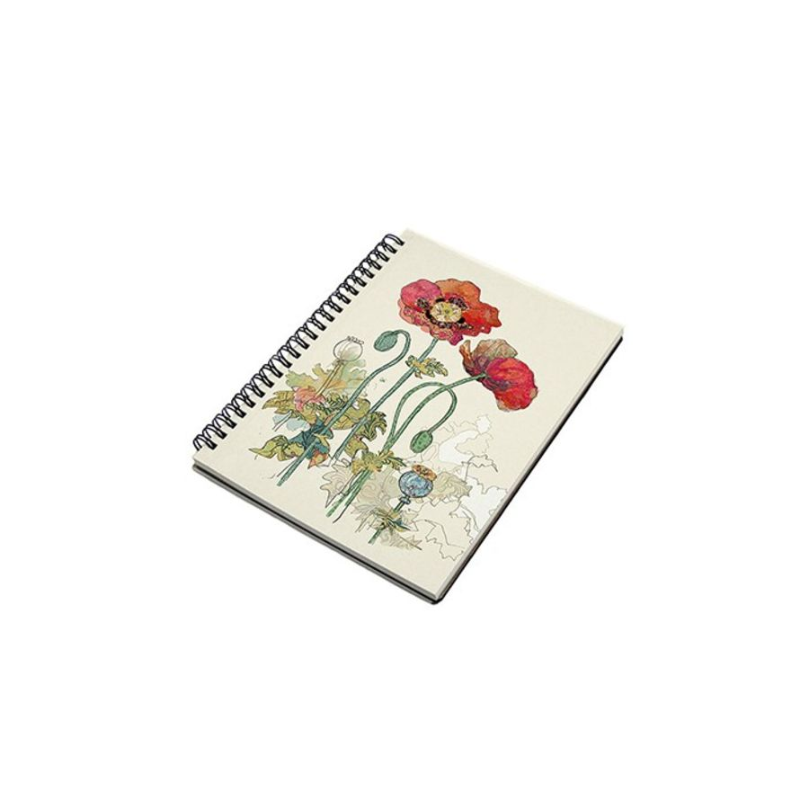 Poppy Design Notebook by Bug Art