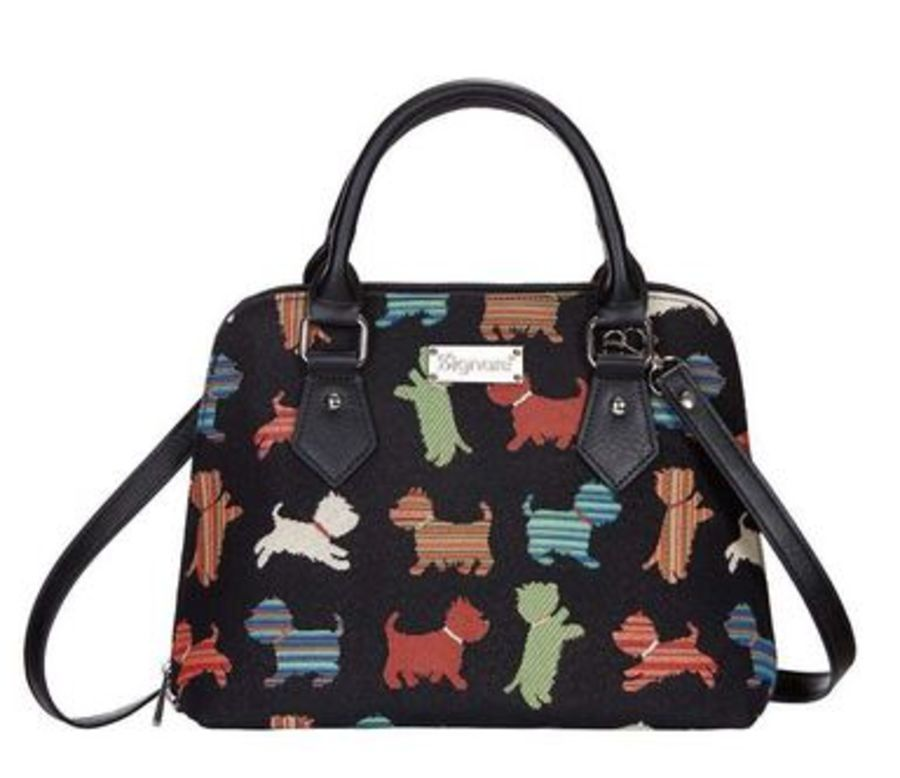 Playful Puppy Top-Handle Shoulder Bag by Signare