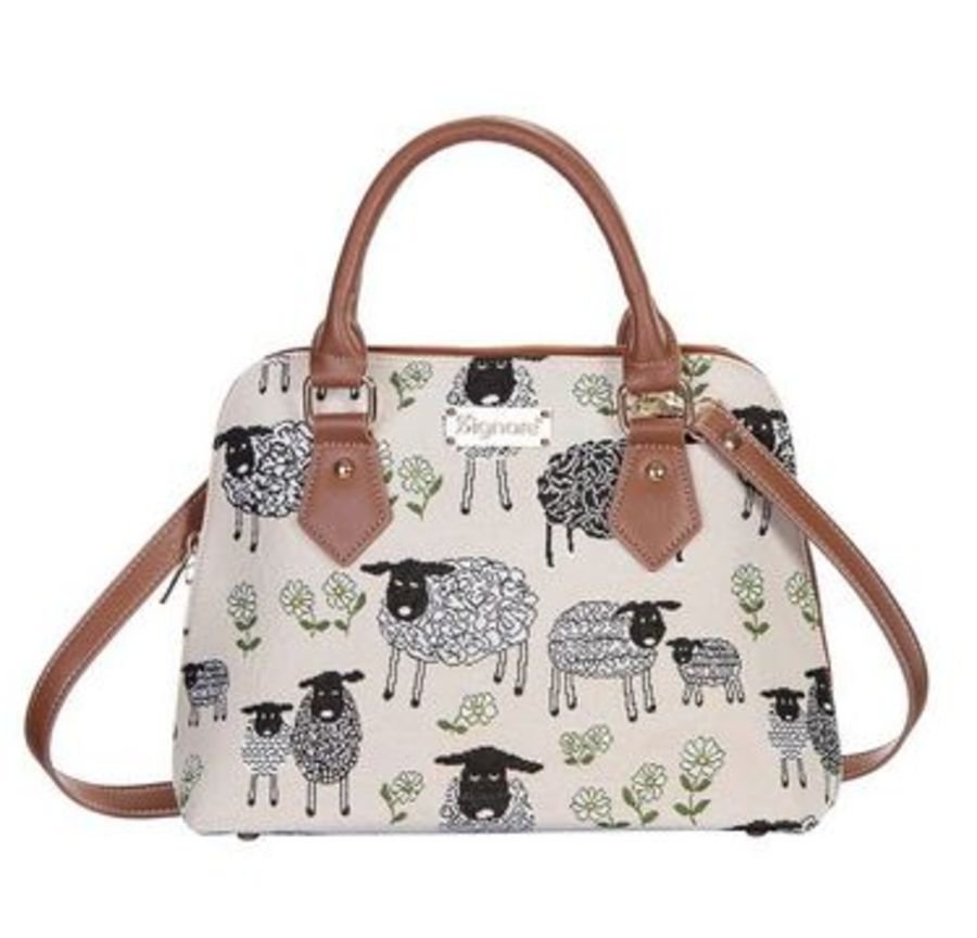 Spring Lamb Top-Handle Shoulder Bag by Signare