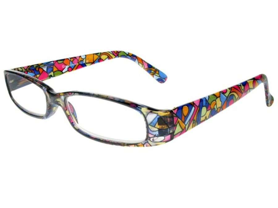 Reading Glasses 'Bliss' Multi Harlequin by Goodlookers