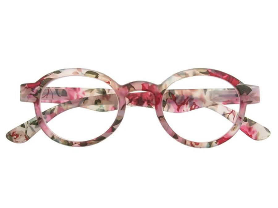Reading Glasses 'Botanica' Pink Floral by Goodlookers