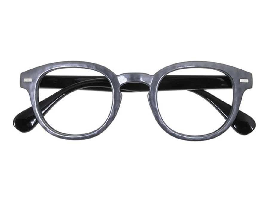 Reading Glasses 'Nico' Metallic Grey by Goodlookers