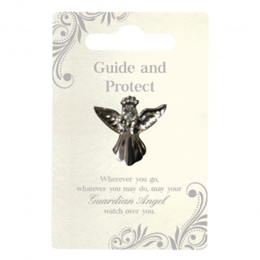 Guide and Protect Guardian Angel Pin
