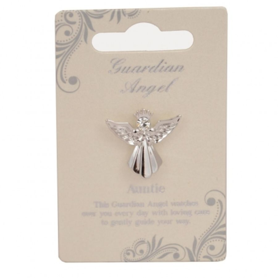 Auntie Guardian Angel Pin