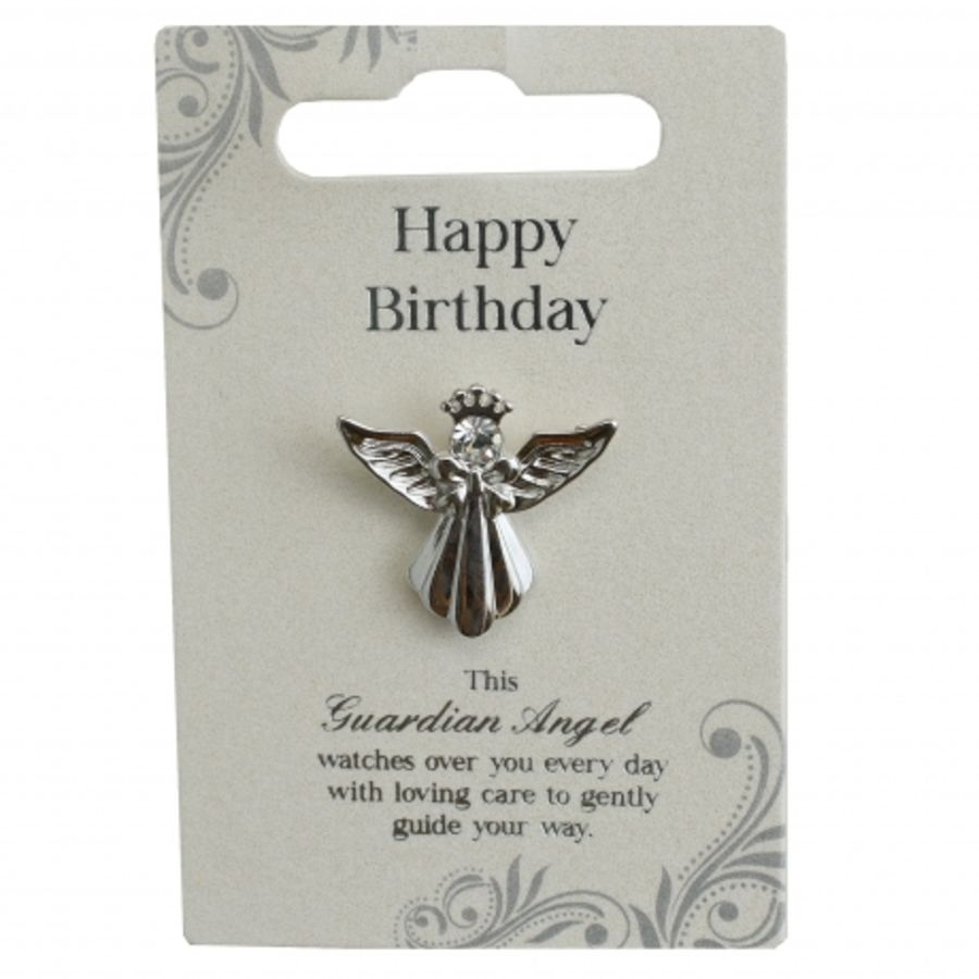 Happy Birthday Guardian Angel Pin