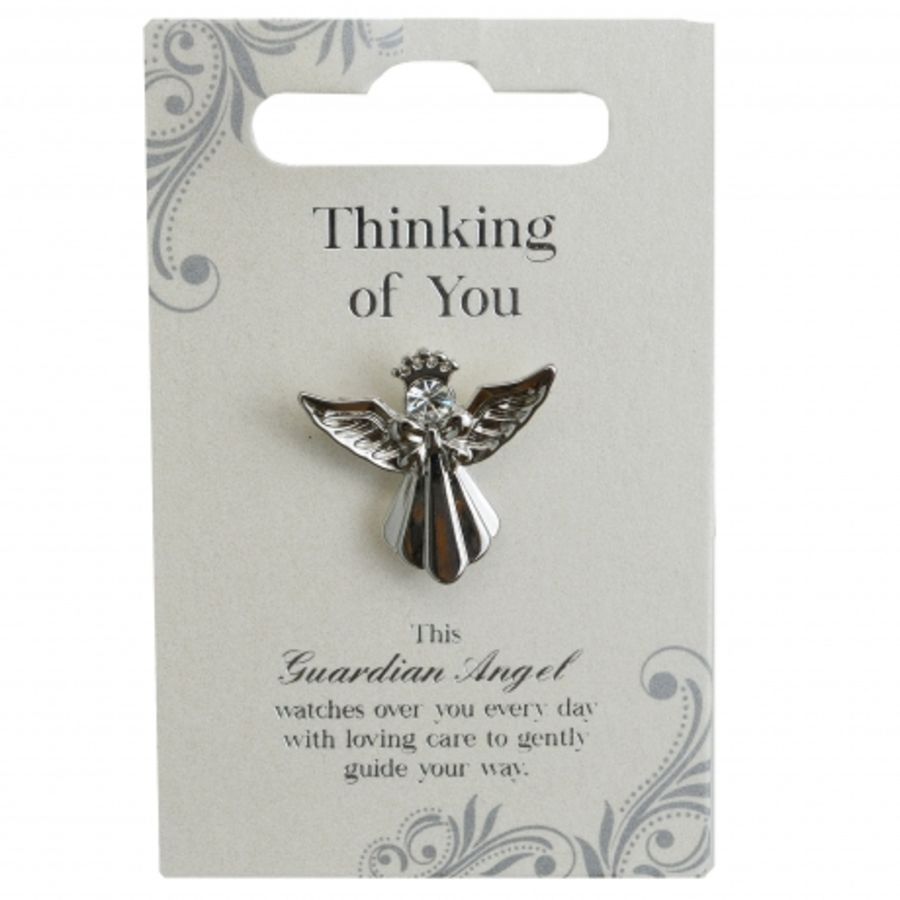 Thinking of You Guardian Angel Pin