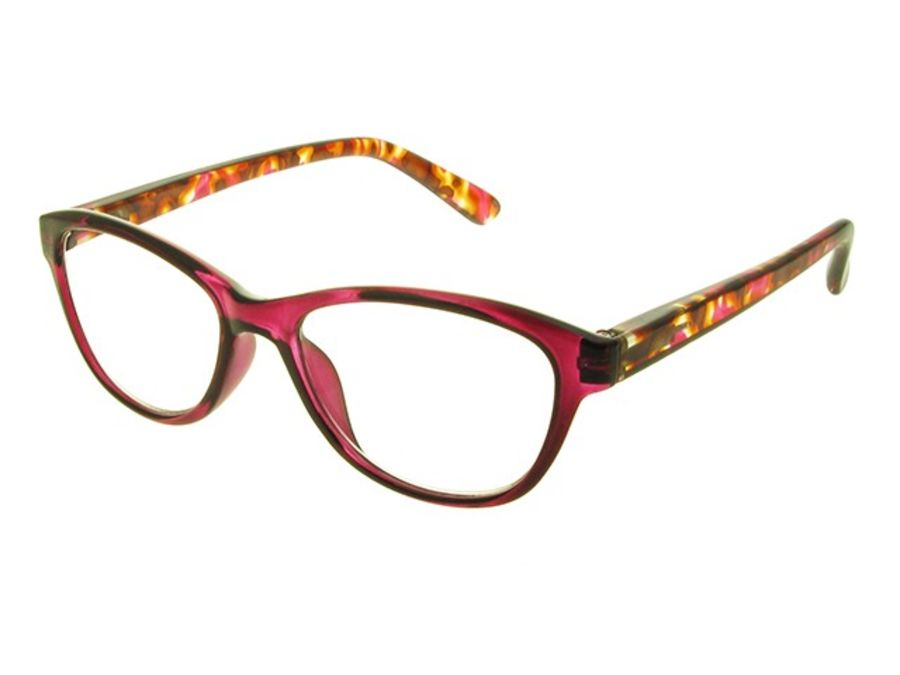 Reading Glasses Lucille Fushia by Goodlookers