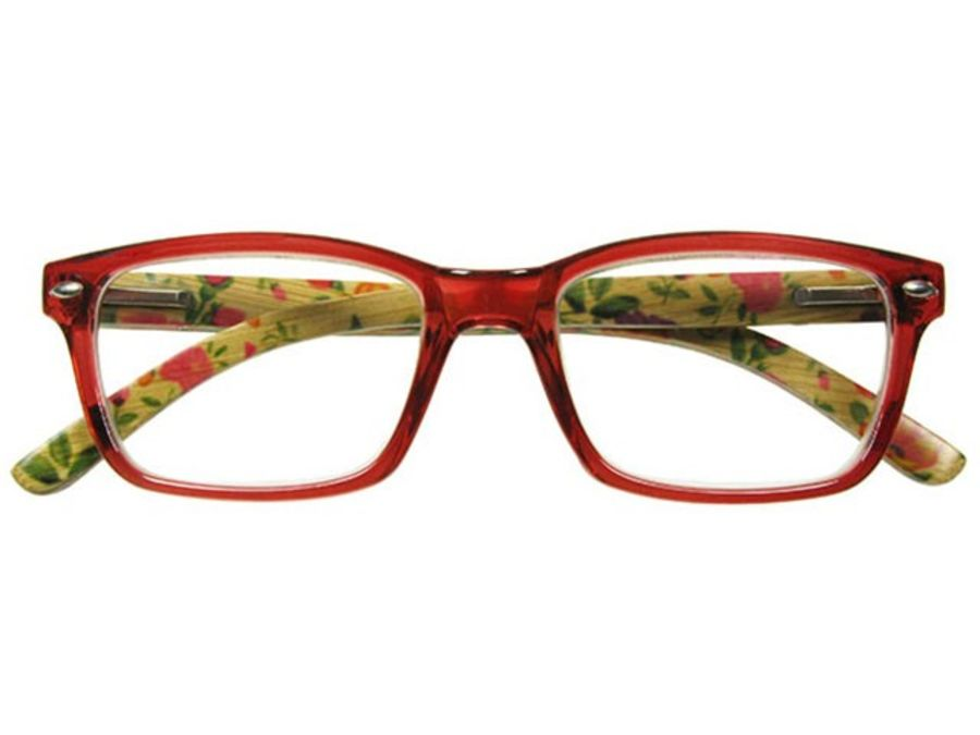 Natural Bamboo Reading Glasses EVA Red by Goodlookers