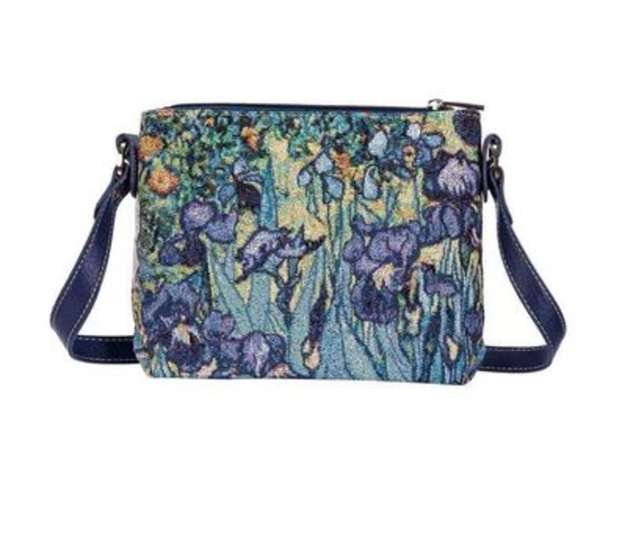 Van Gogh Irises Cross Body Bag by Signare