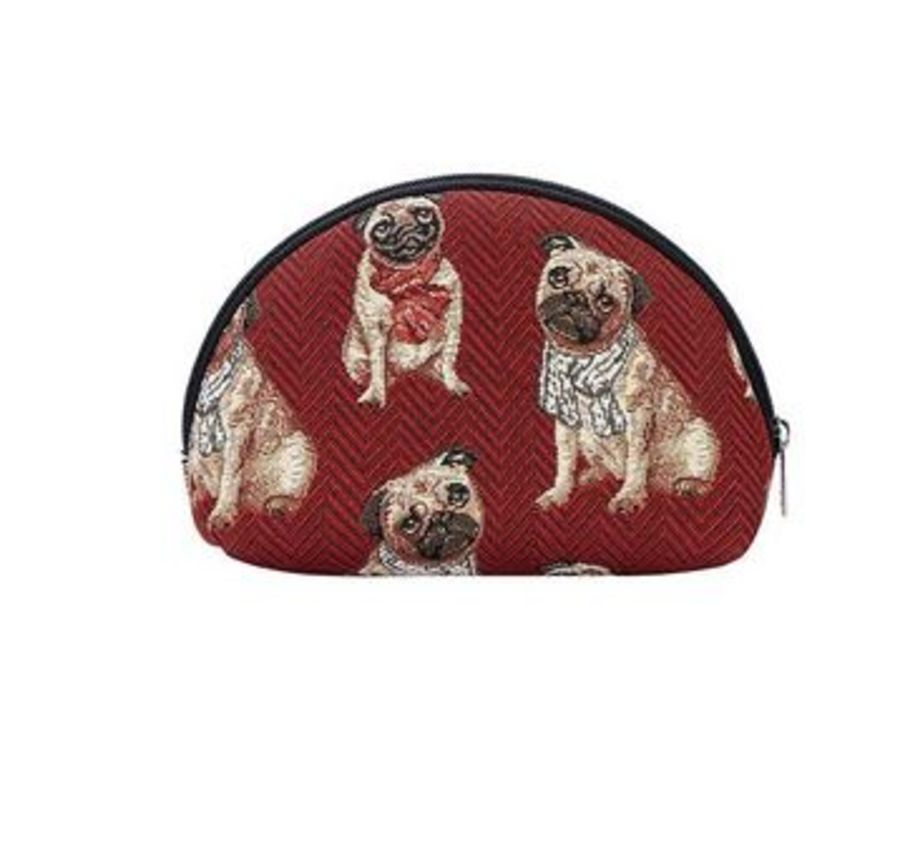 Pug design Cosmetic Bag by Signare