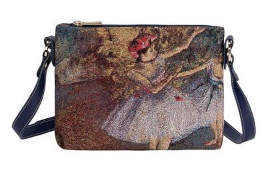 Degas Two Dancers On A Stage Cross Body Bag by Signare
