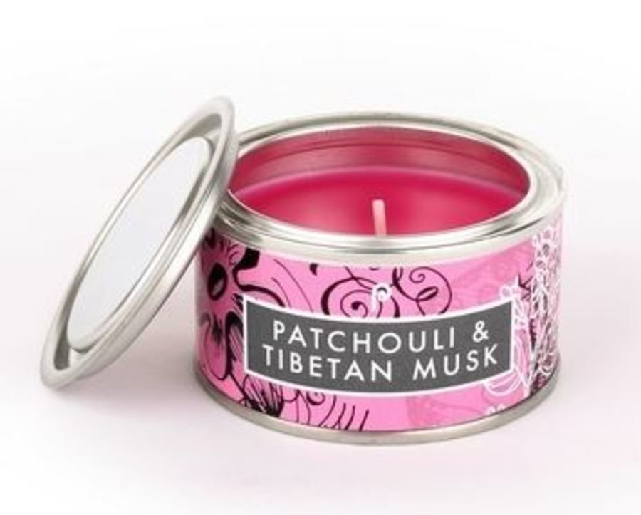 Patchouli & Tibetan Musk  Pintail Elements Fragranced Tin Candle