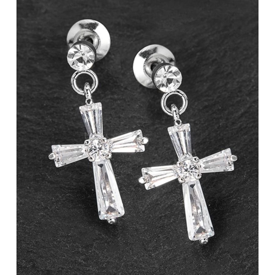 Dangly Cross Earrings by Equilibrium
