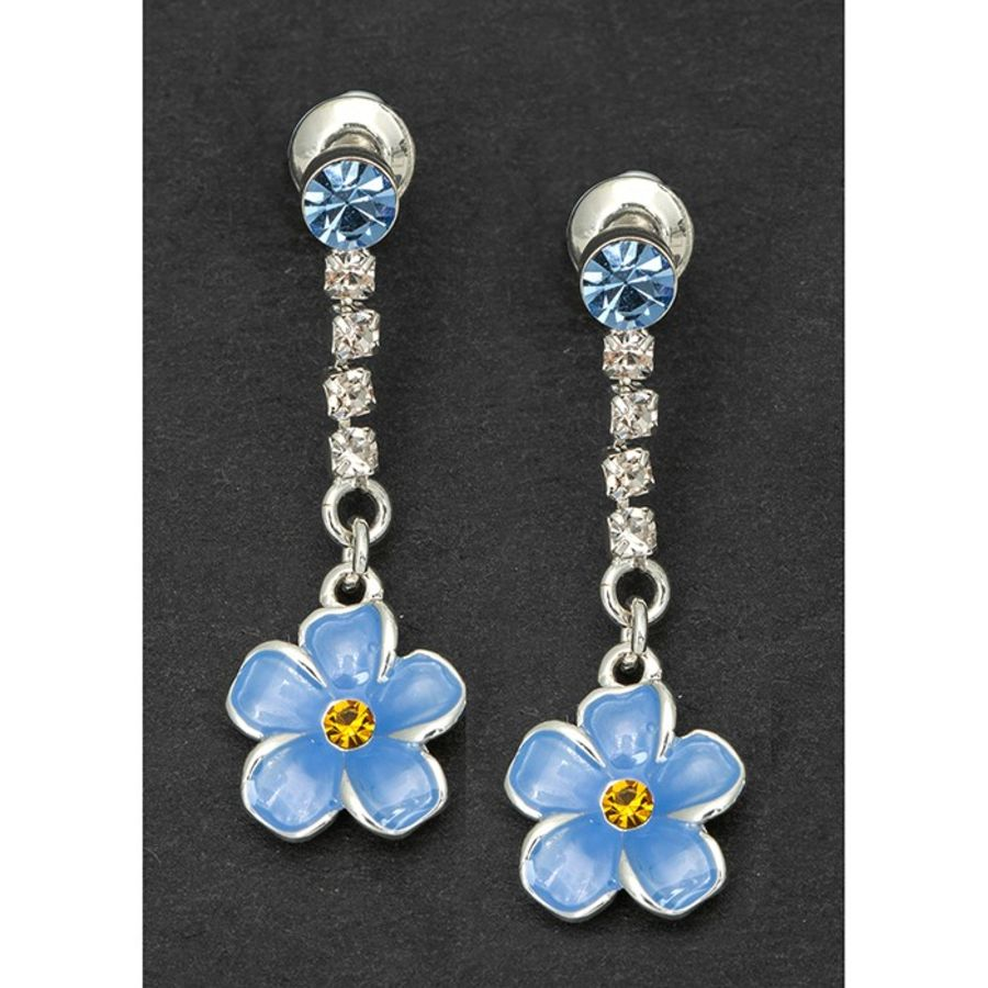 Forget-me -not Drop Earrings by Equilibrium