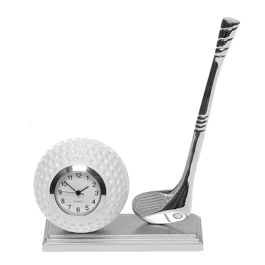 Golf Ball & Club Miniature Clock