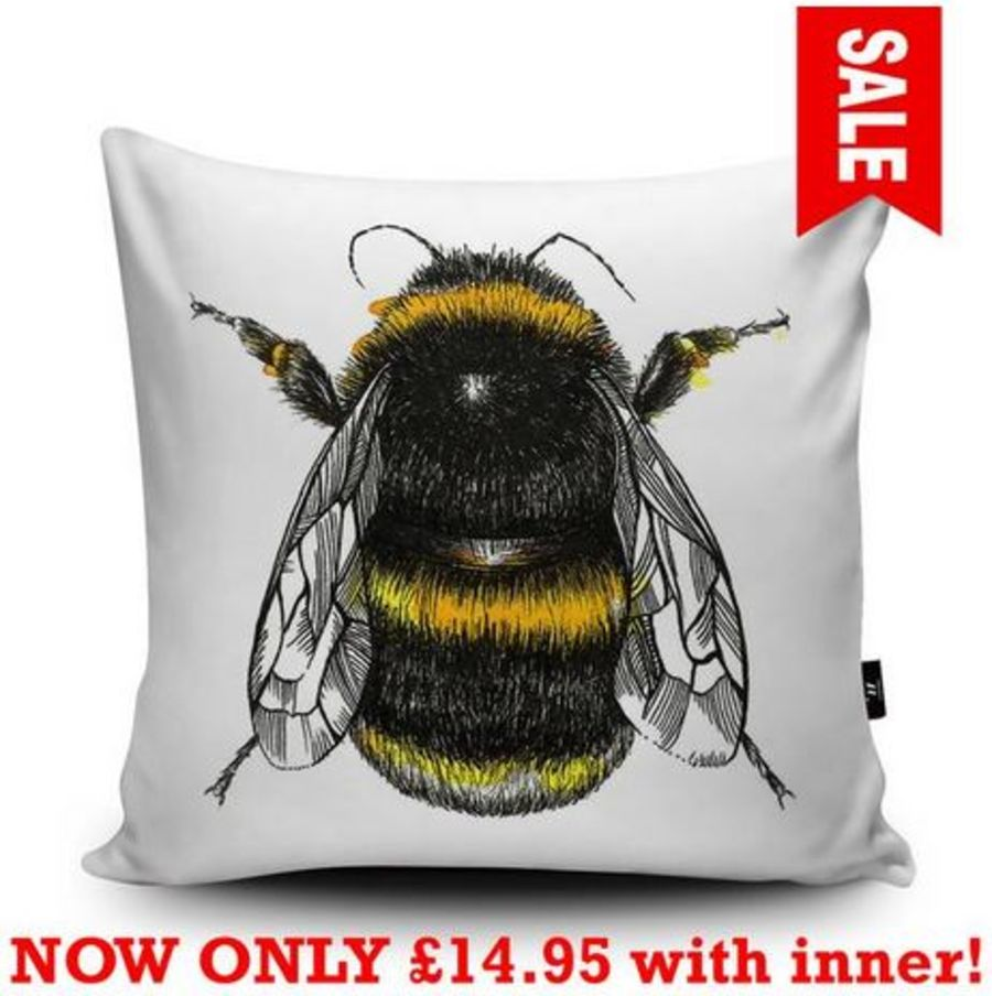 Bumble Bee Cushion Cover & Inner