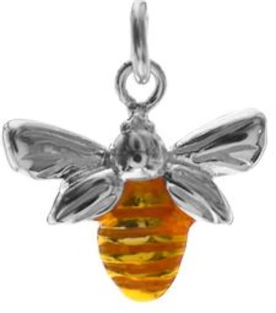 925 Sterling Silver Bee Pendant & Chain