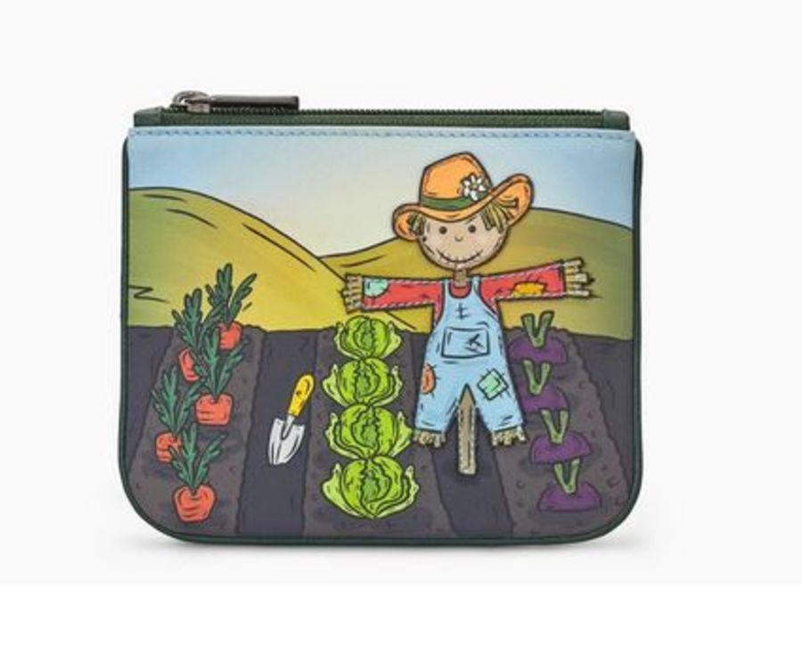 Leather Zip Top Scarecrow Purse y by Yoshi
