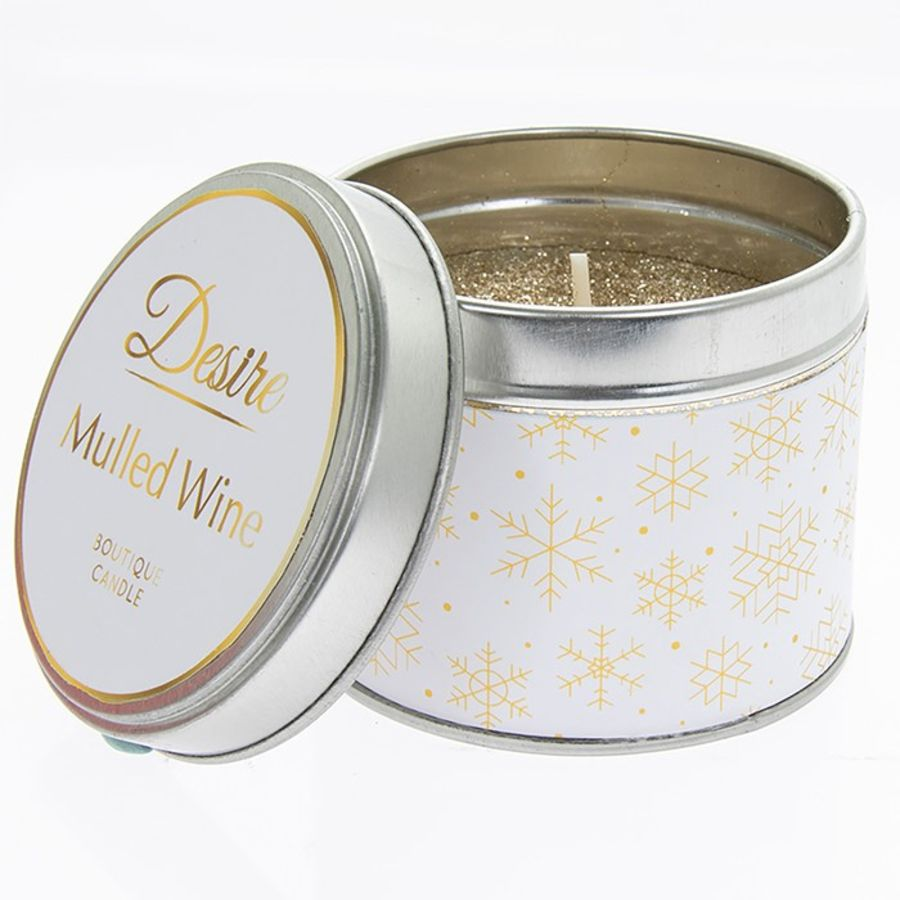 Desire Scented Tin Candle - Mulled Wine
