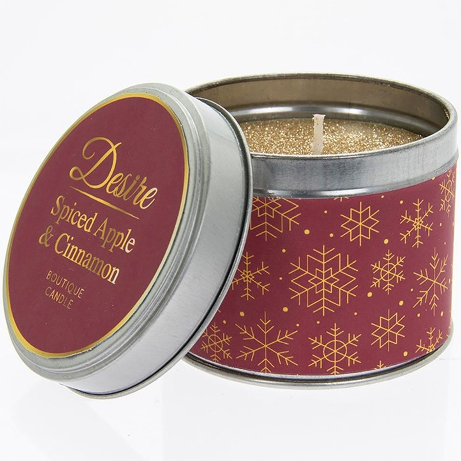 Desire Scented Tin Candle - Spiced Apple & Cinnamon