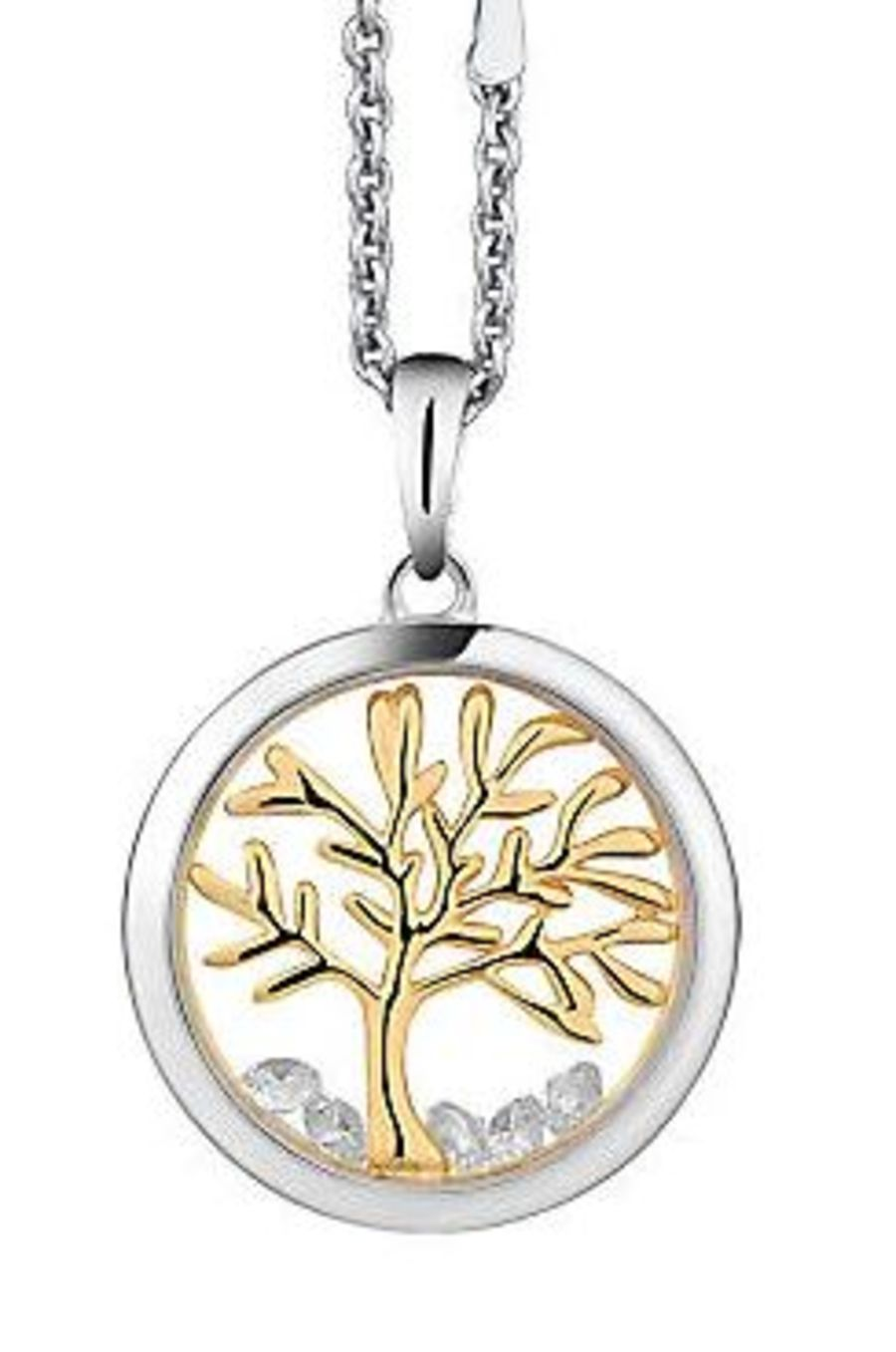 Astra Silver Tree Of Life Pendant and Chain 16mm