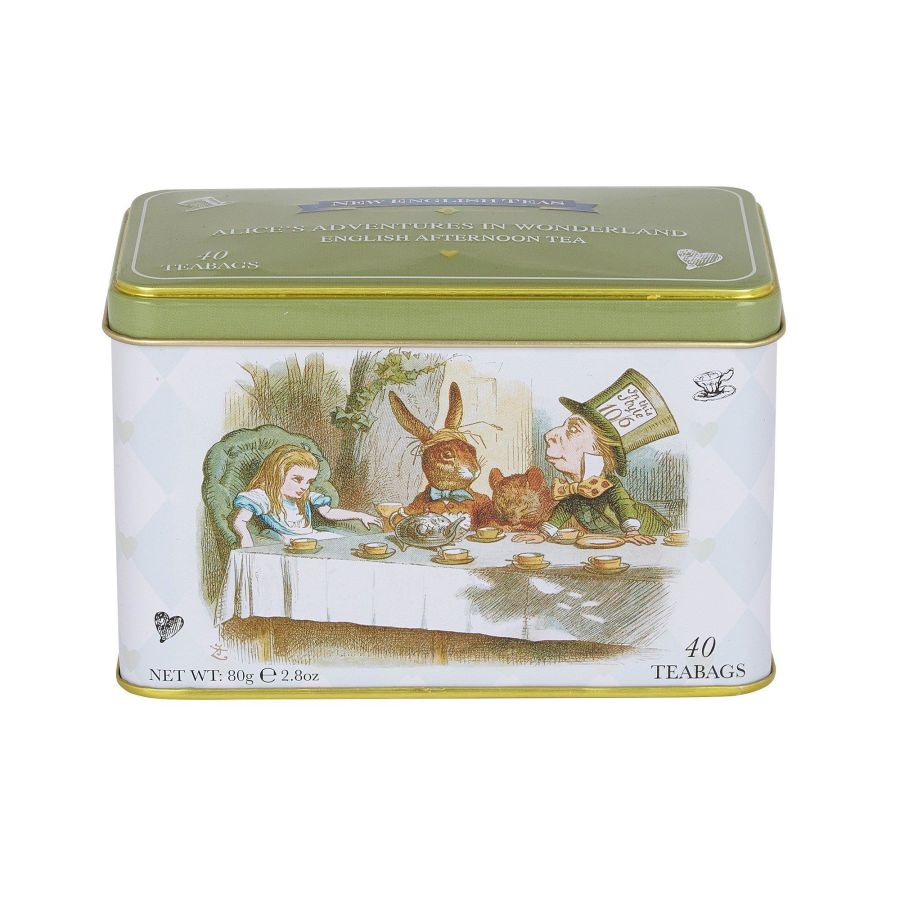 New English Teas Alice In Wonderland English Afternoon Tea Tin 40 Teabags