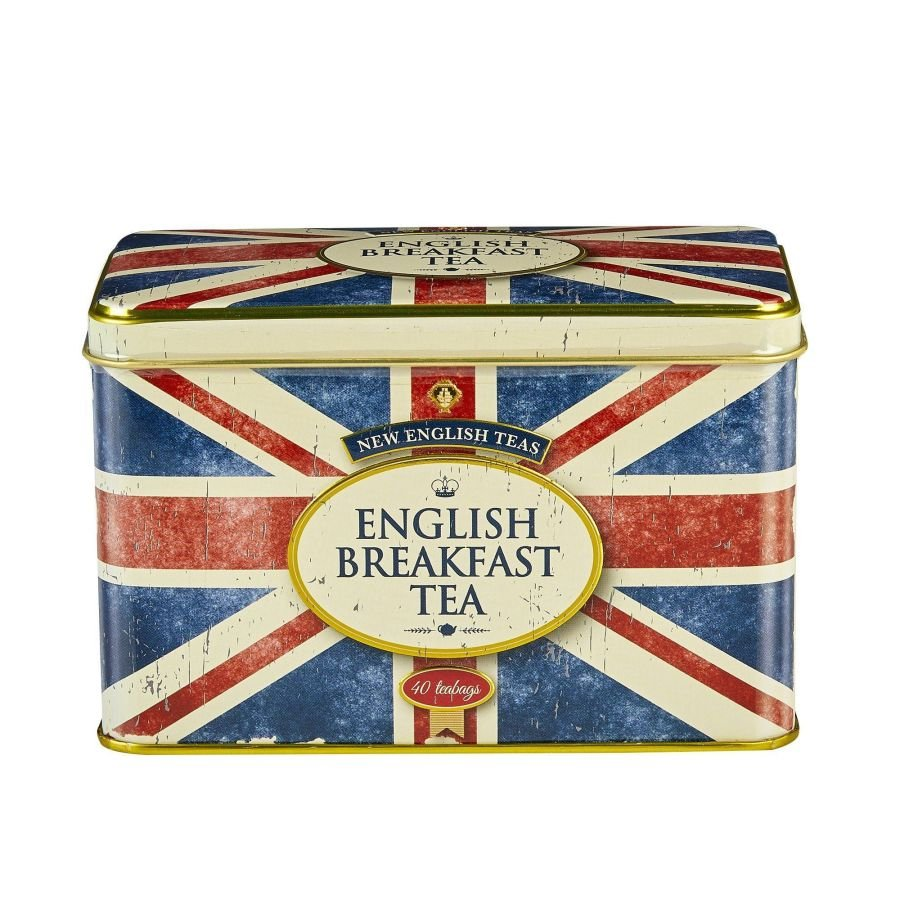 New English Teas Retro Union Jack English Breakfast Tea Tin 40 Teabags
